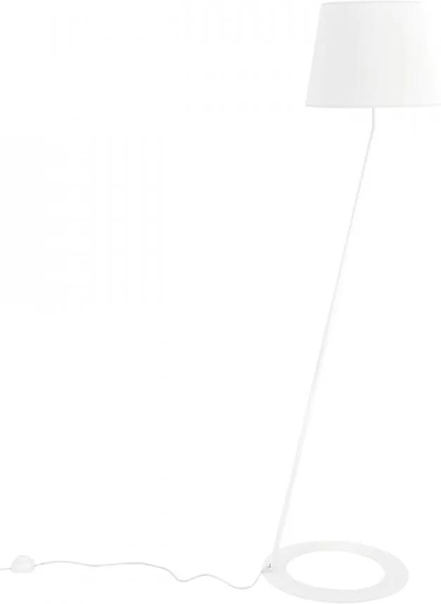 Lampadar alb din poliester si otel 150 cm Stand