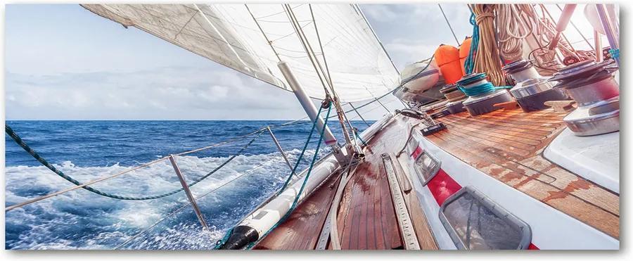 Tablou acrilic Barcă cu pânze pe mare