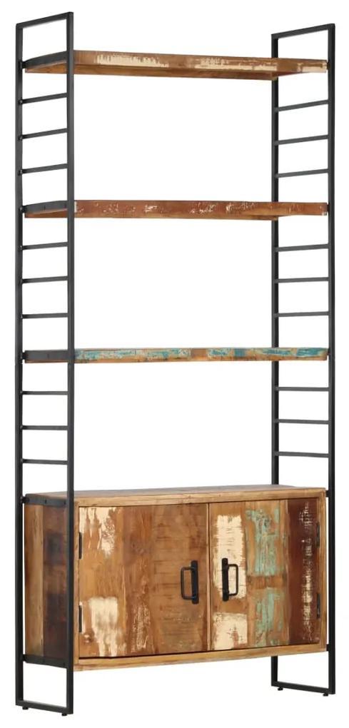 284419 vidaXL Bibliotecă cu 4 niveluri, 80 x 30 x 180 cm, lemn masiv reciclat