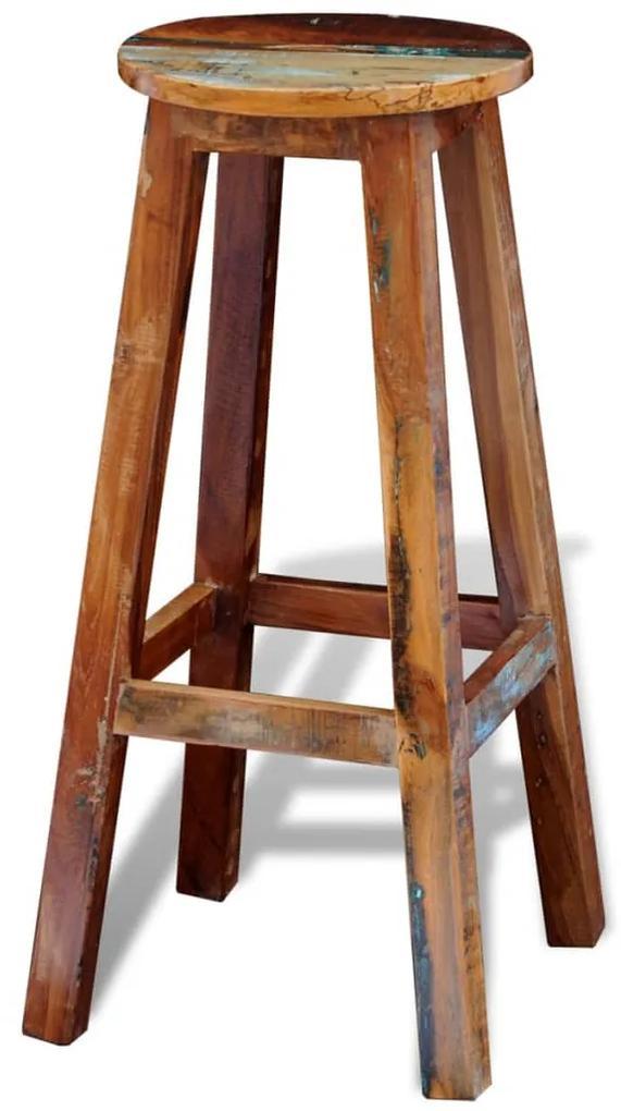 241647 vidaXL Scaun de bar, lemn masiv reciclat