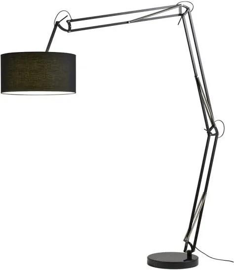 Lampadar reglabil Redo AZAR negru, bază marmură