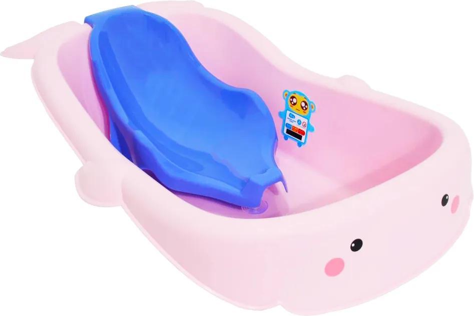 Cadita ergonomica cu reductor detasabil Whale Pink