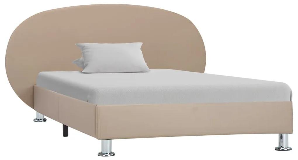 285421 vidaXL Cadru de pat, cappuccino, 100 x 200 cm, piele ecologică