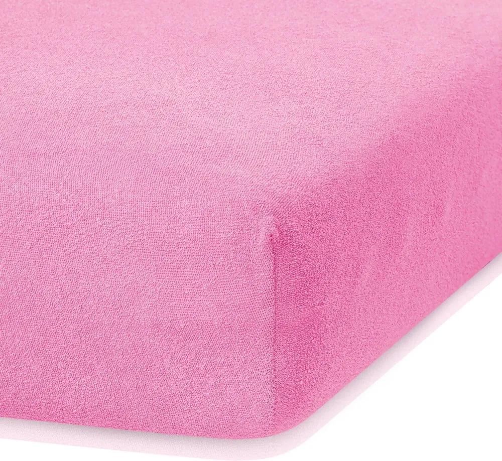 Cearceaf elastic AmeliaHome Ruby, 200 x 160-180 cm, roz închis
