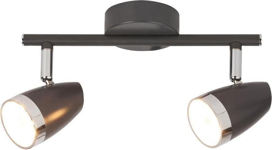 Rábalux Karen 6513 Plafoniere cu spoturi antracit crom LED 8W 260 x 120 mm
