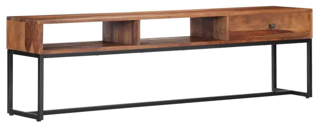 247466 vidaXL Comodă TV, 160 x 30 x 45 cm, lemn masiv de sheesham