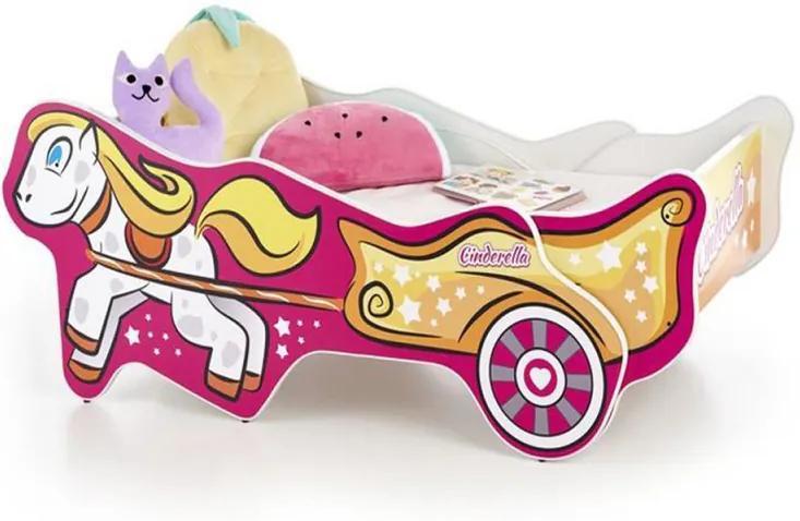 Pat pentru copii Fin 3698 PAL 165-205x79x56 cm Multicolor