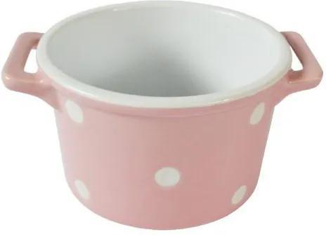 Vas pentru copt cu manere DOTS - Roz