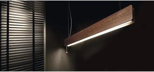 Lustra Oslo G13 1x16W, tub LED T8 inclus, stejar afumat