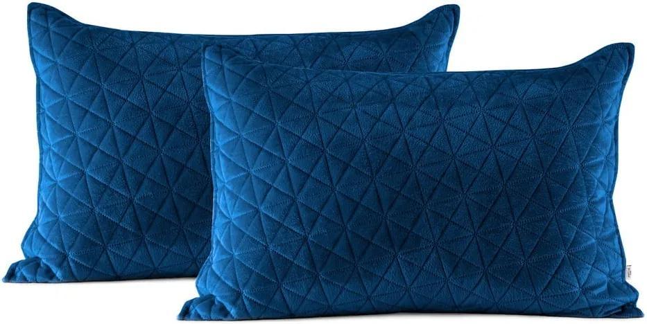 Set 2 fețe de pernă AmeliaHome Laila, 70 x 50 cm, albastru