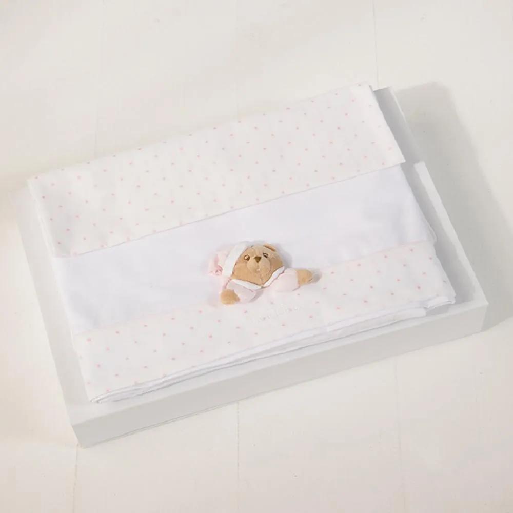 Lenjerie Stars 3 piese roz pentru carucior bebe 12815, Bleu