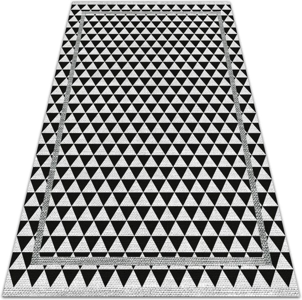 Covor de vinil Triunghiuri negre și albe