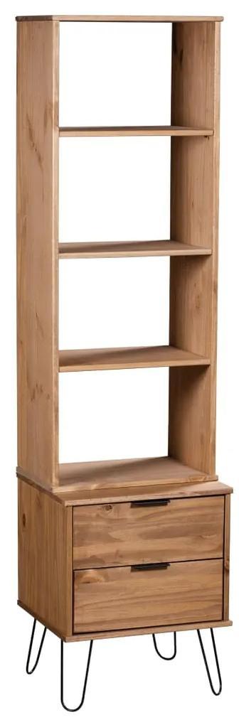321140 vidaXL Bibliotecă New York Range, lemn deschis, lemn masiv de pin