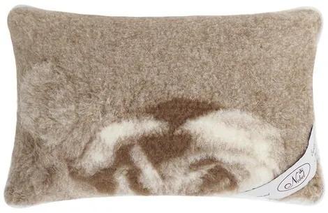 Pernă din lână merinos european Trandafir, 40 x 60 cm