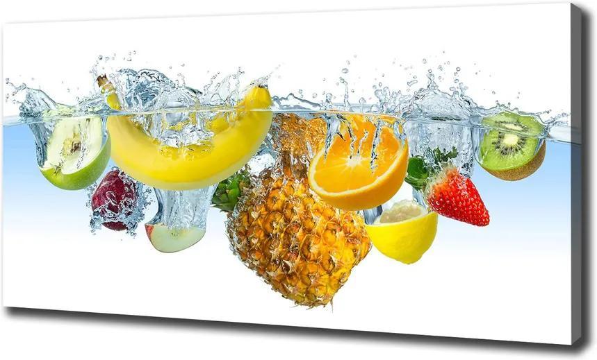 Tablou pe pânză Fructele sub apa