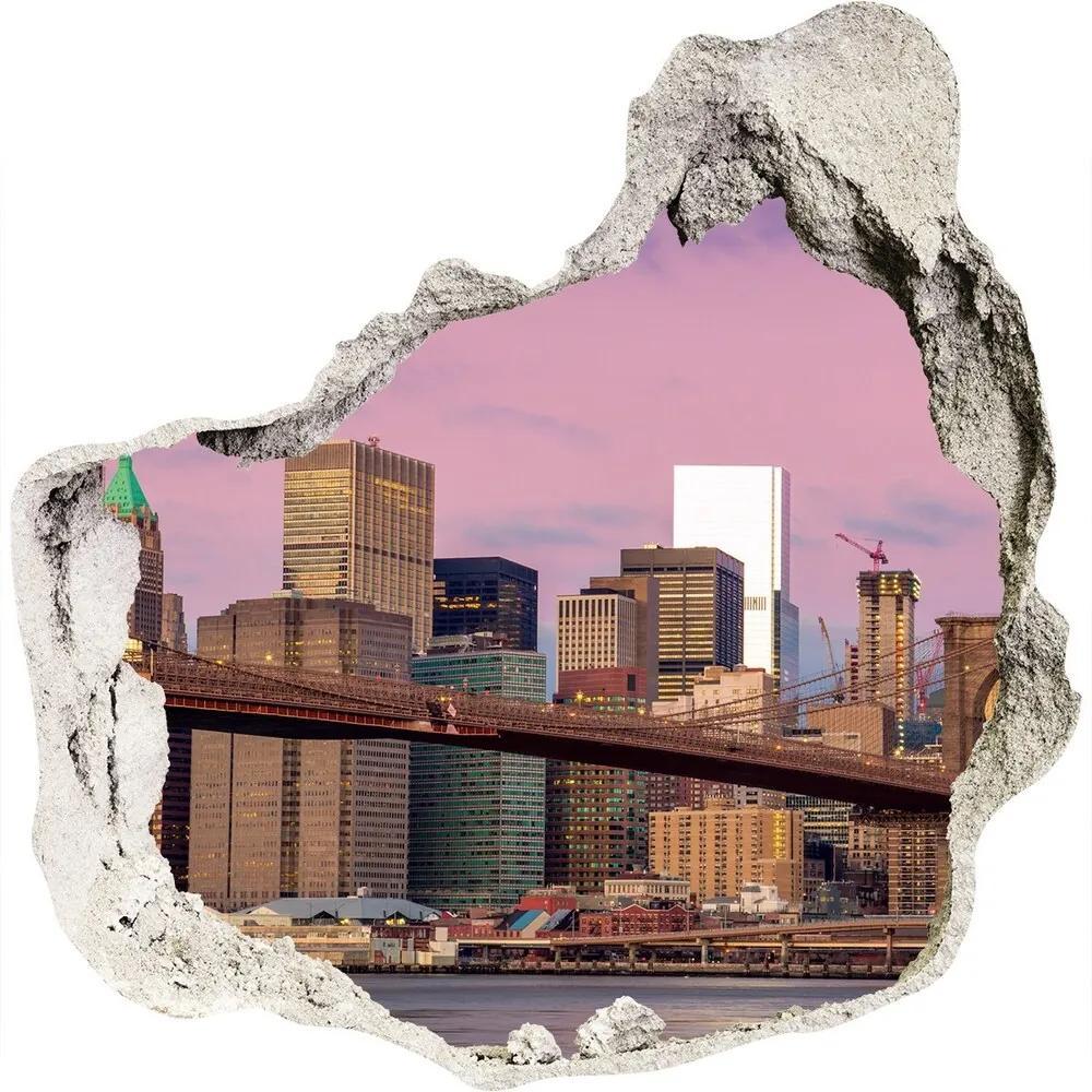 Autocolant gaură 3D Manhattan New York City