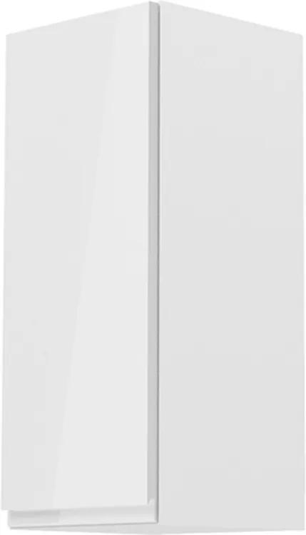 Dulap superior, alb / alb luciu extra ridicat, de stânga, AURORA G31