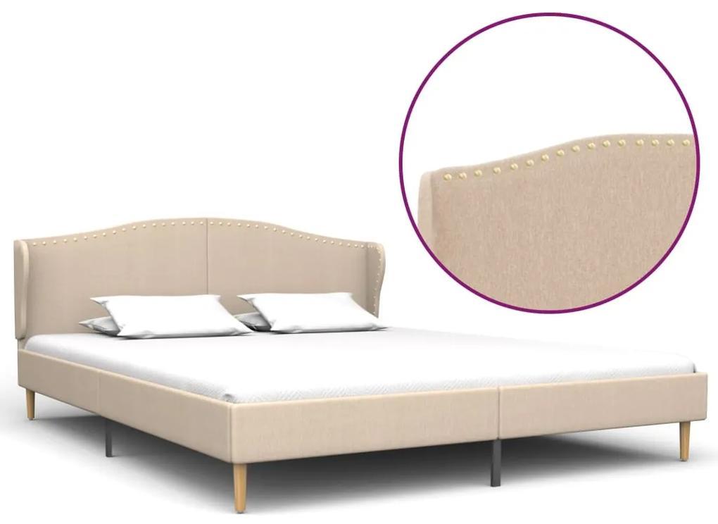 280645 vidaXL Cadru de pat, bej, 160 x 200 cm, material textil