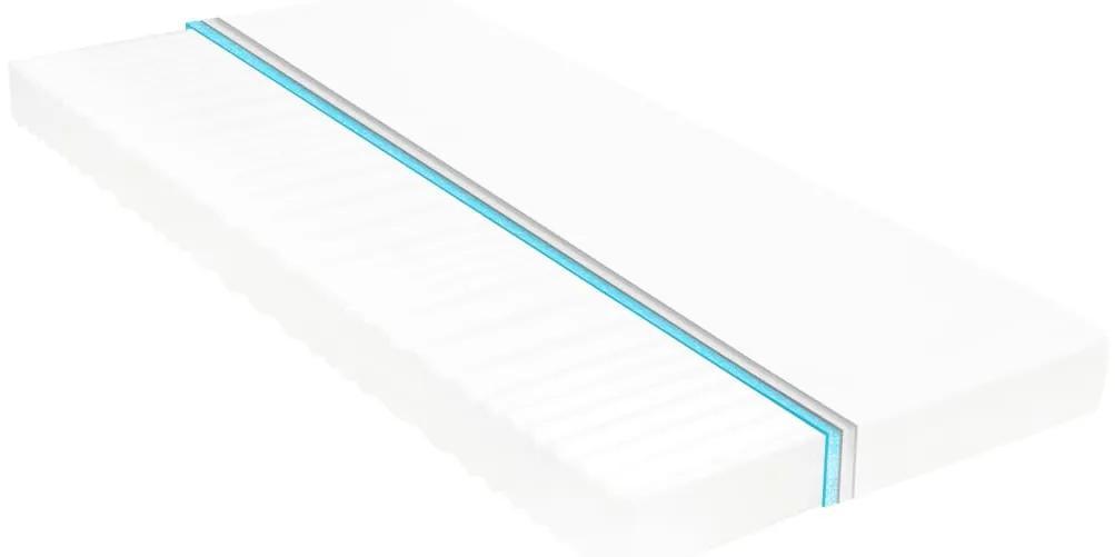282807 vidaXL Saltea, 140 x 200 cm, 7 zone, spumă PU, 10 cm, H2 H3
