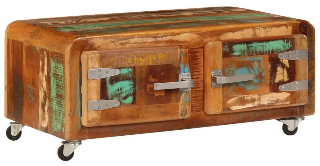 247515 vidaXL Măsuță de cafea, 85 x 55 x 40 cm, lemn masiv reciclat