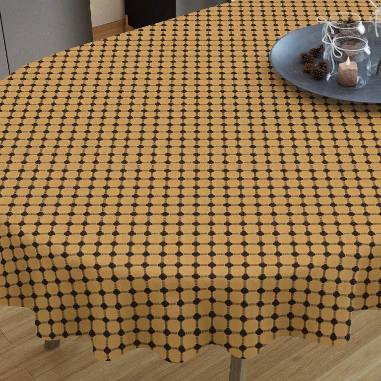 Goldea față de masă din bumbac - model 056 - ovale 40 x 80 cm