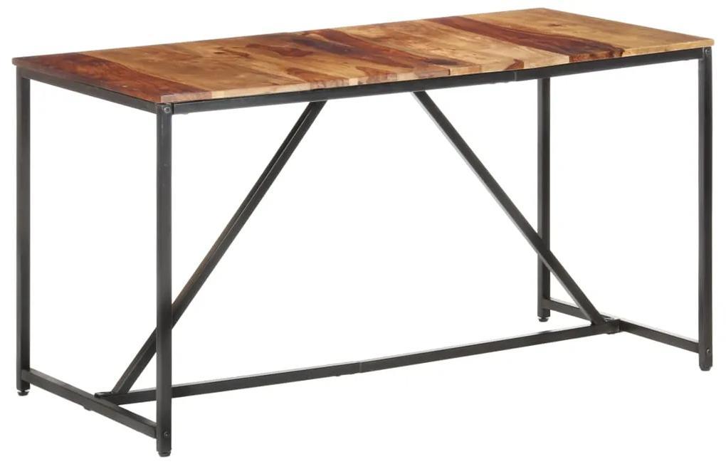 286344 vidaXL Masă de bucătărie, 140 x 70 x 76 cm, lemn masiv de sheesham