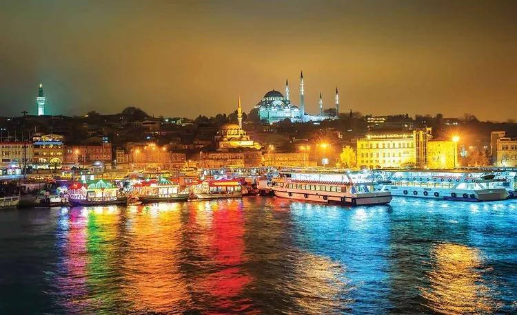 City Turkey Bosphorus Multicolour Fototapet, (104 x 70.5 cm)