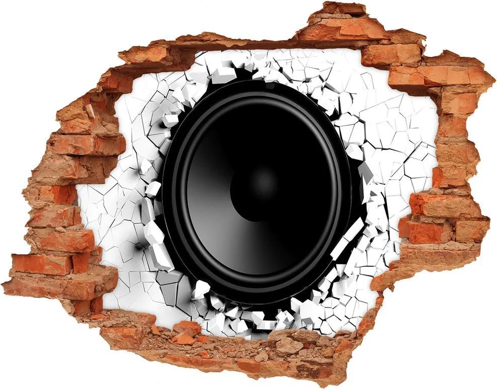 Autocolant 3D gaura cu priveliște Vorbitor