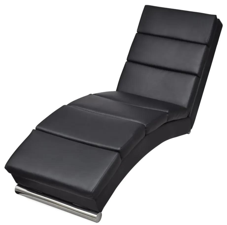 240711 vidaXL Șezlong, negru, piele ecologică