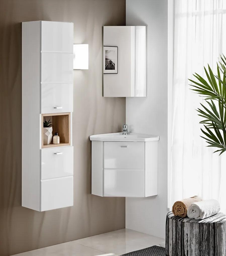 Set mobilier pentru baie de colt 3 piese Finka White
