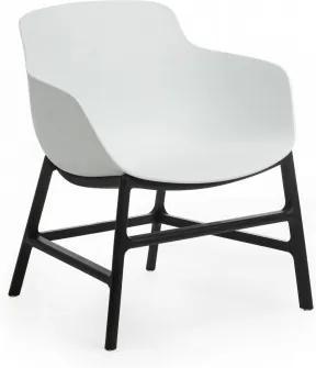Scaun din plastic Ines Alb / Negru, l63xA62xH70 cm