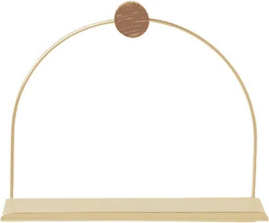 Raft pentru Baie - Alama Auriu Inaltime(21 cm) x Latime(26 cm) x Diametru(10 cm)