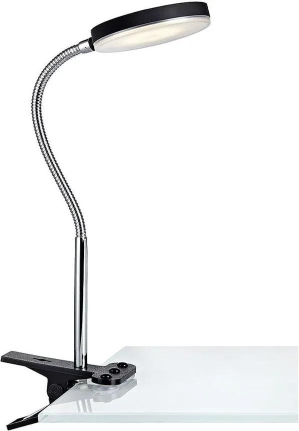 Veioză cu LED și clips Markslöjd Flex, negru