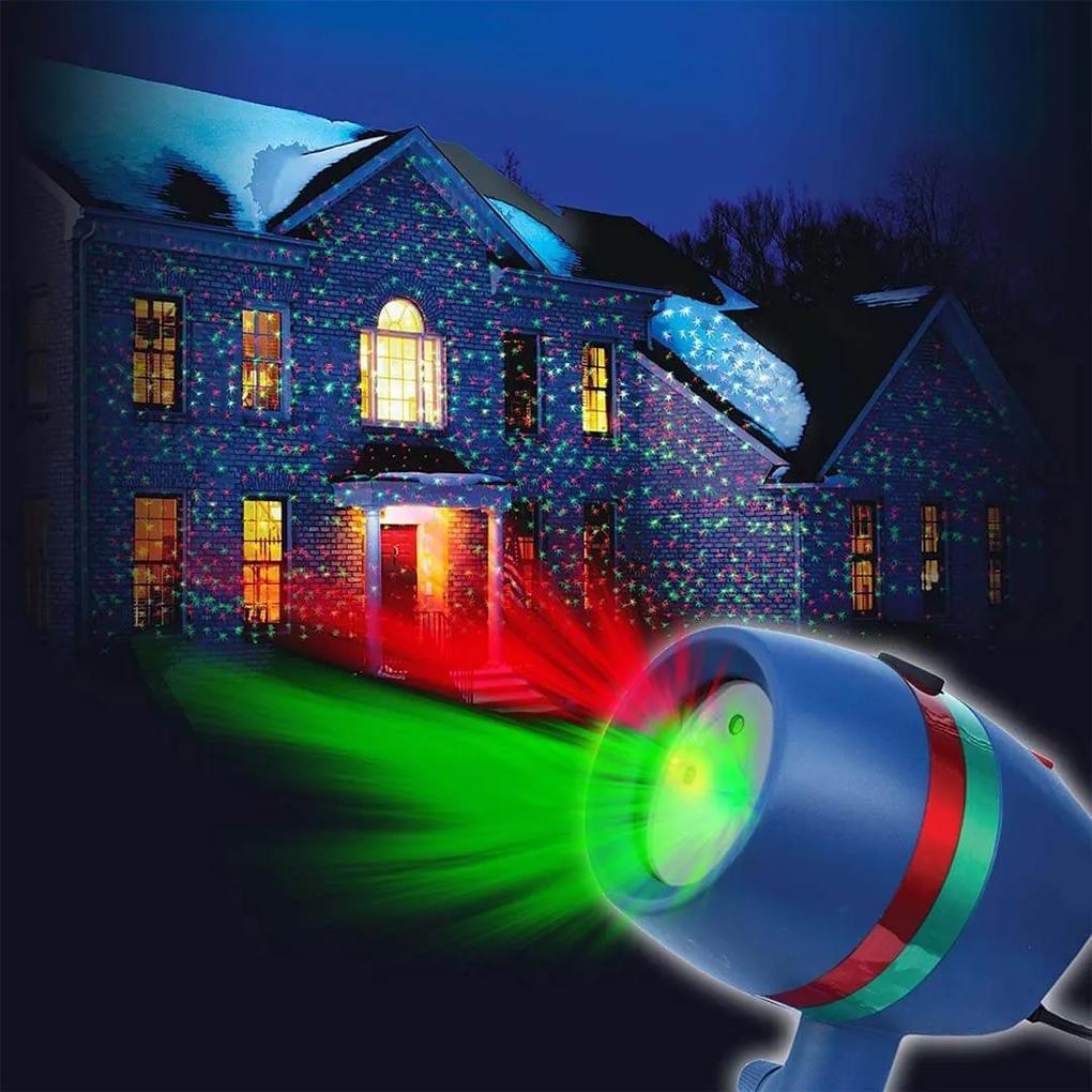 Proiector laser pentru Craciun cu 8 modele