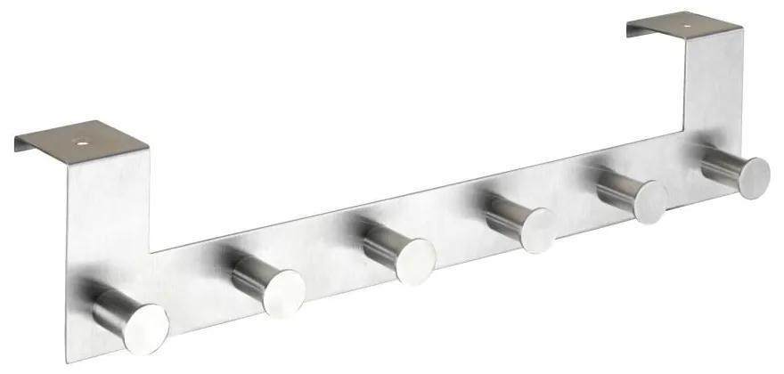Cuier suspendat pentru ușă cu 6 cârlige Wenko Celano, argintiu