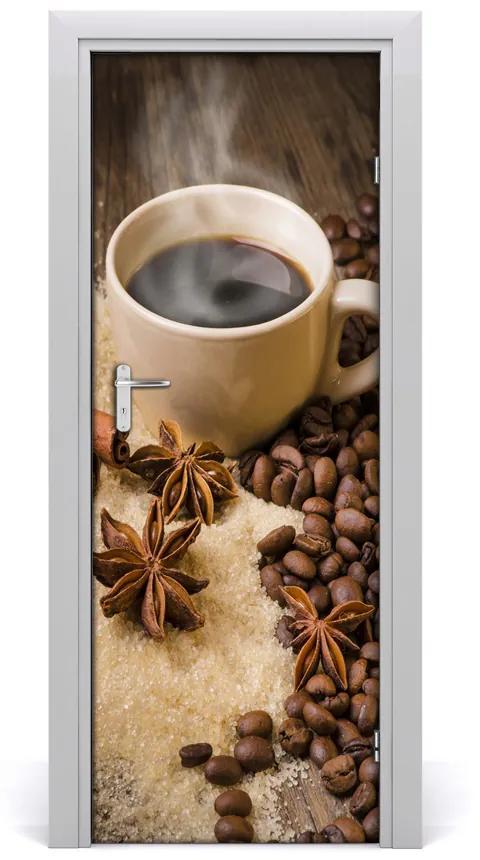 Autocolante pentru usi ceașcă de cafea