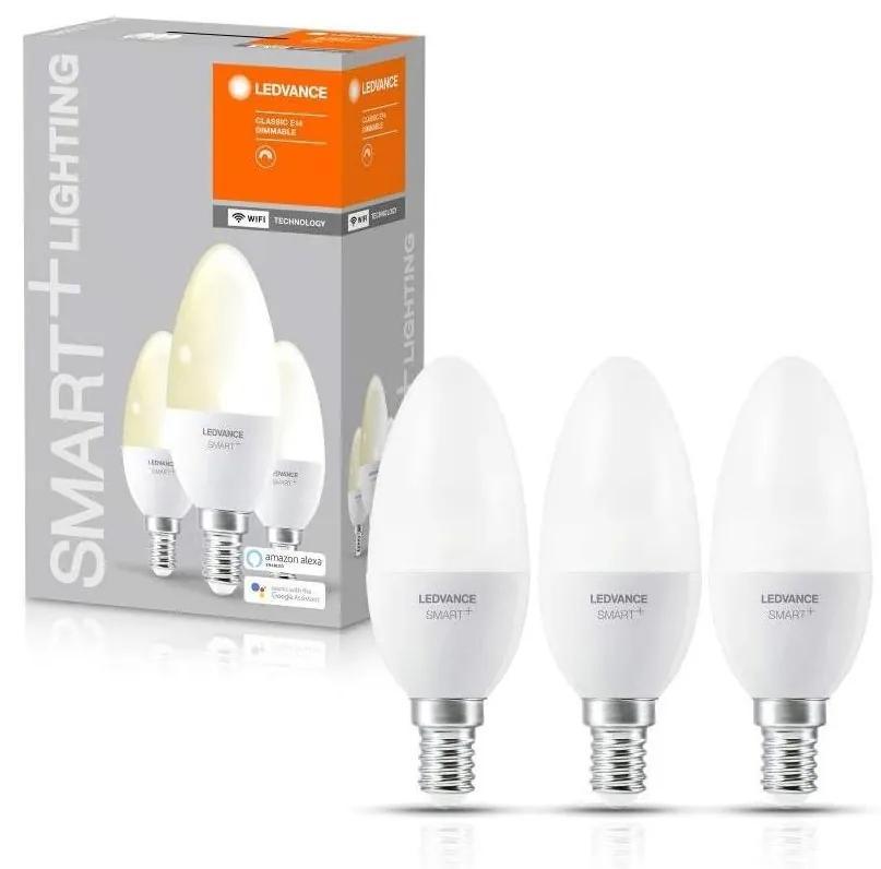 SET 3x Bec de iluminat cu LED SMART + E14/ 5W/230V 2700K - Ledvance