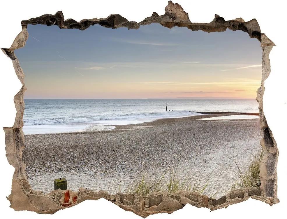 Fototapet 3D gaură în perete Apus de soare și dune de nisip