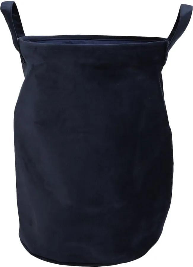 Coș pentru rufe, aspect de catifea House Nordic Catania, albastru