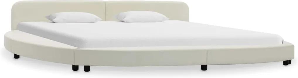 Cadru de pat, alb, 180 x 200 cm, piele ecologica