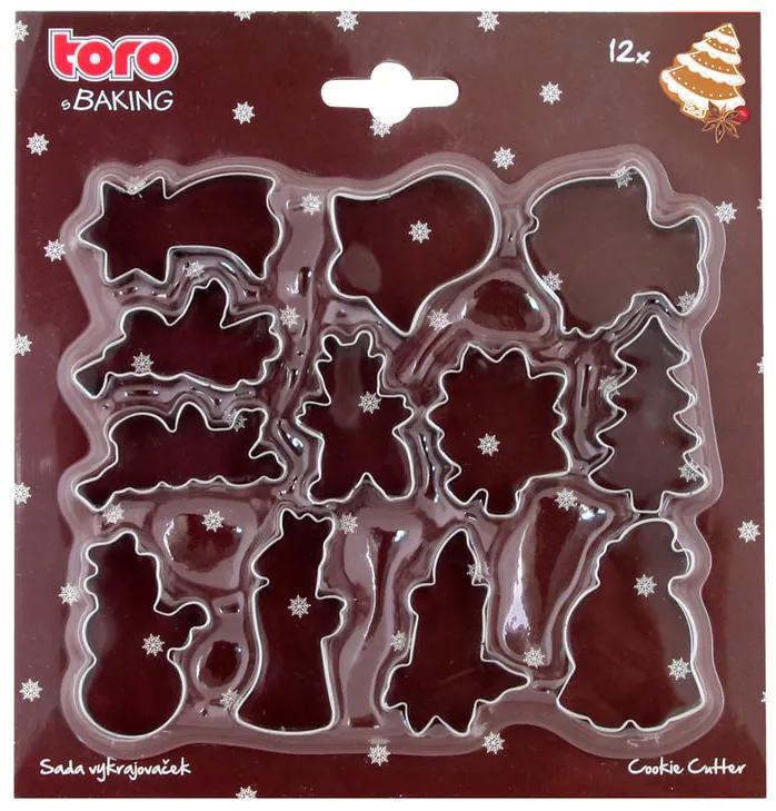 TORO Set de decupatoare prăjituri de Crăciun 12 buc