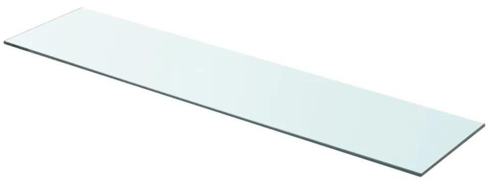 243839 vidaXL Raft din sticlă transparentă, 90 x 20 cm