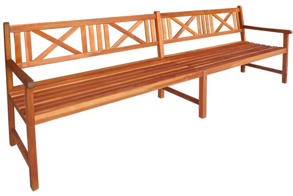 42593 vidaXL Bancă de grădină, lemn masiv de acacia, 240 x 56 x 90 cm, maro
