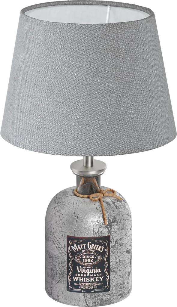 Veioză Eglo MOJADA gri-argintiu, vintage