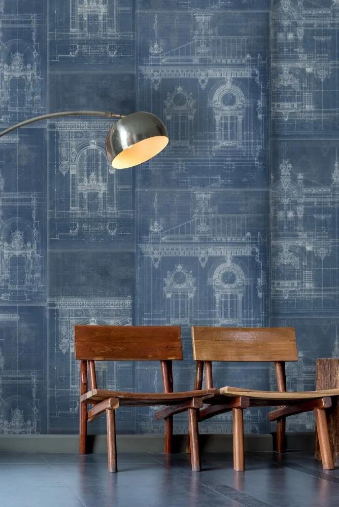 MINDTHEGAP Tapet - Garnier Blue