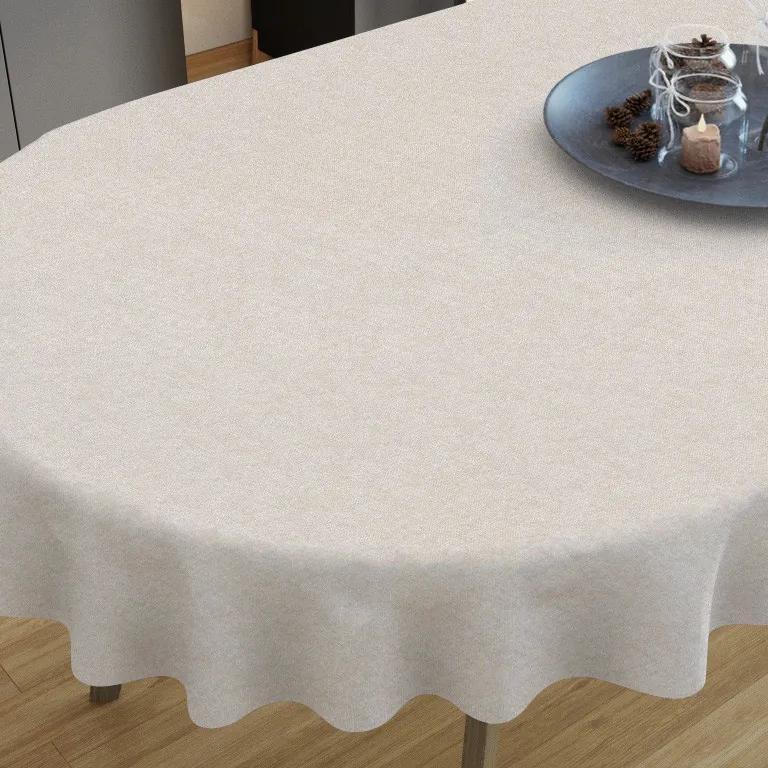 Goldea față de masă decorativă  loneta - model 152 - ovale 140 x 280 cm