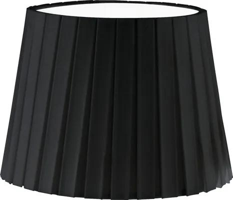 Abajur textil Vintage E14 Ø245 mm, 170 mm, negru cu pliuri