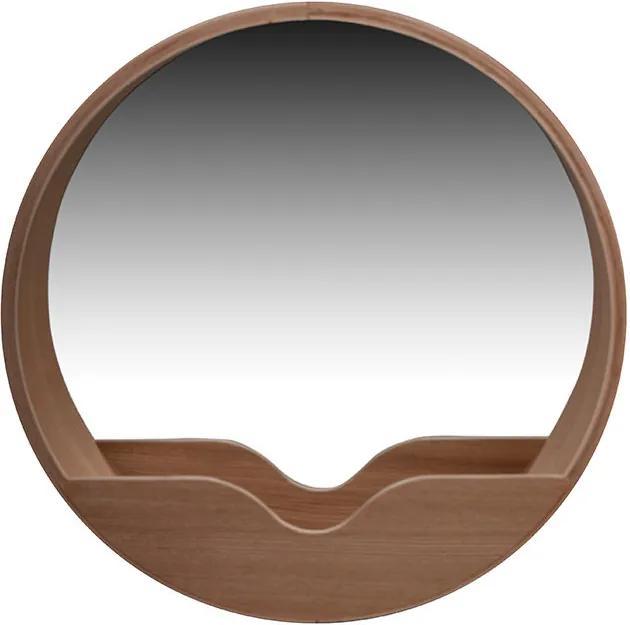 Oglinda rotunda din lemn stejar 60 cm Zuiver