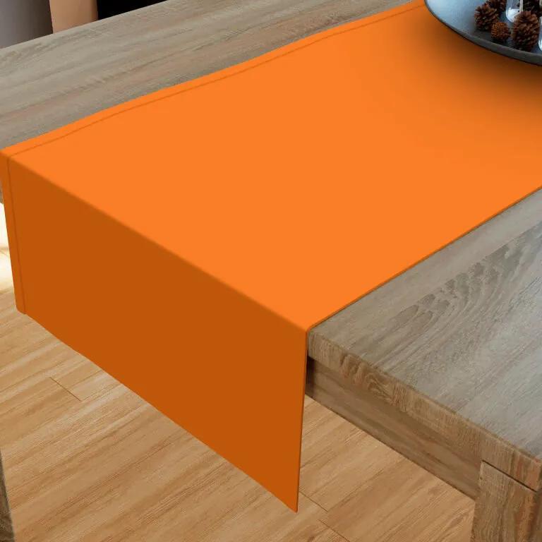 Goldea napron de masă din bumbac - portocaliu 20x120 cm
