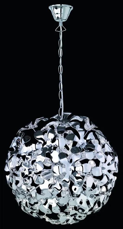 Trio R11913106 Pendule moderne SPLASH crom acril incl. 3 x G9, 28W, 2800K, 370Lm
